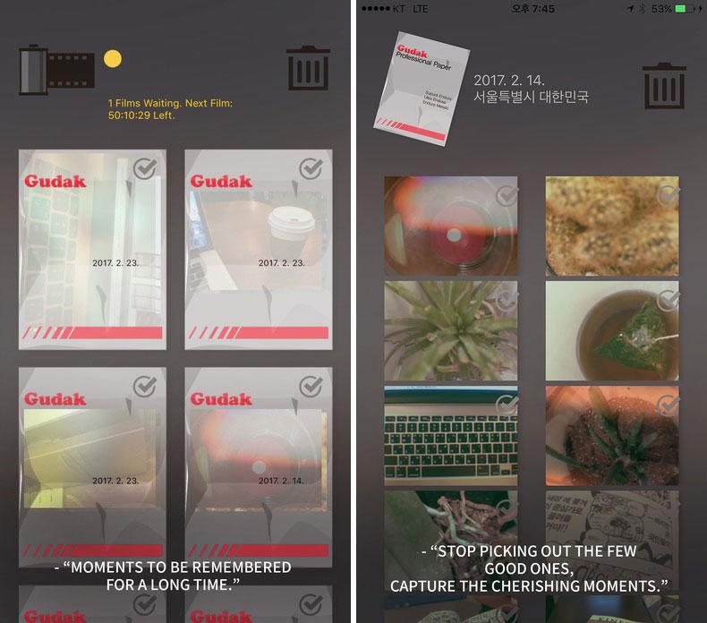 Gudak – камера, которая показывает фотографии только через 3 дня после съемки