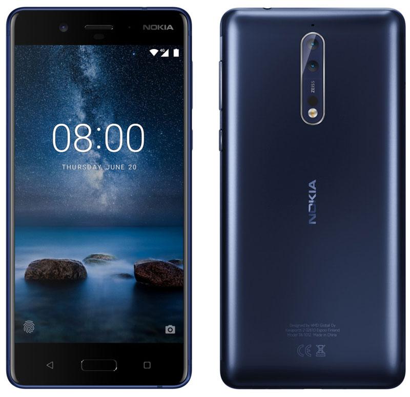 Опубликован пресс-рендер флагмана Nokia 8 с двойной камерой и оптикой Carl Zeiss