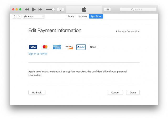 В App Store и iTunes появилась возможность оплаты с помощью PayPal