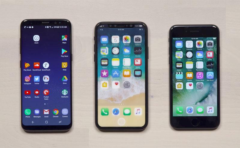 У Android-конкурентов нет шансов: iPhone 8 сравнили iPhone 7, 7 Plus и Galaxy S8 [видео]