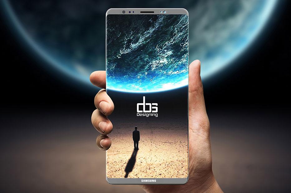Отсутствие сканера отпечатков под экраном Samsung Galaxy Note 8 подтверждено новой утечкой