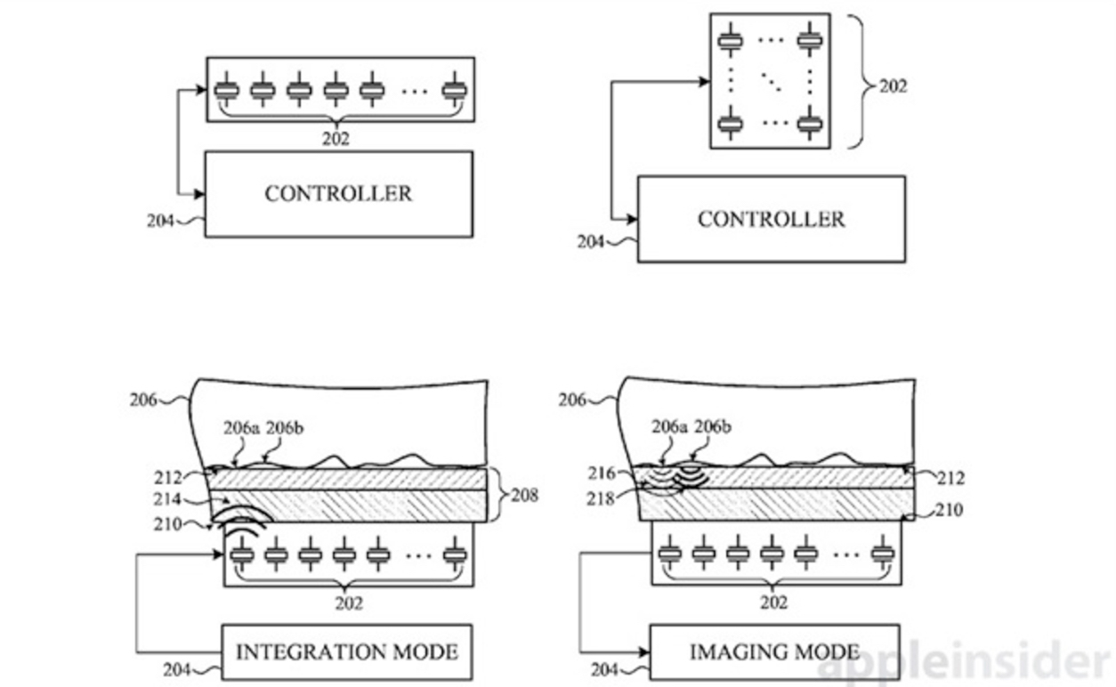 Apple запатентовала сканер отпечатков, работающий под дисплеем
