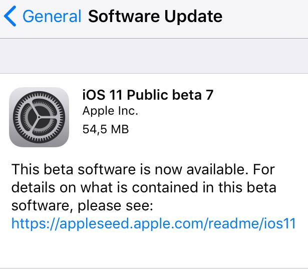 Apple выпустила iOS 11 Public beta 7 для iPhone, iPad и iPod