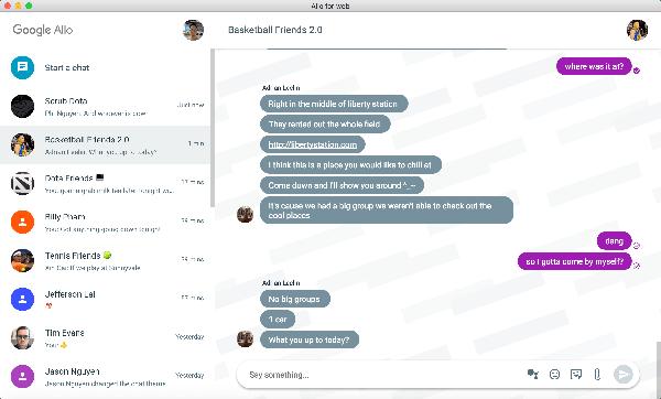 На macOS появился клиент Google Allo