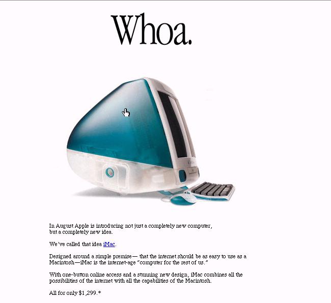 Как выглядел сайт Apple в 1998?