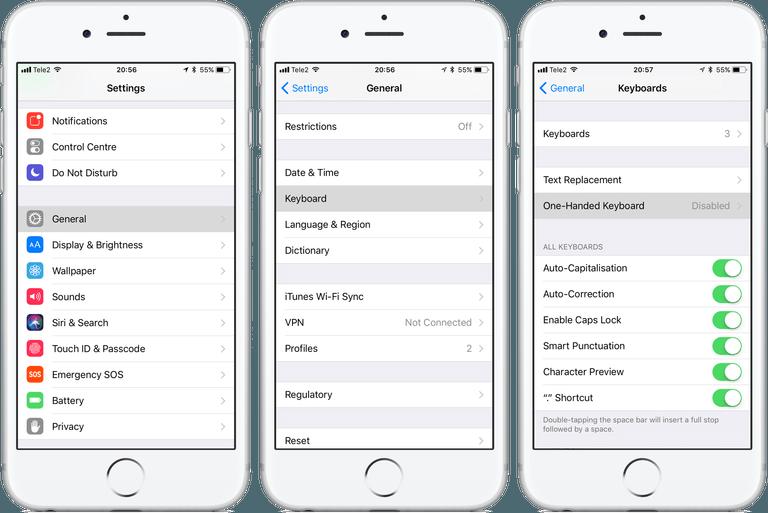 Клавиатура в iOS 11: от А до Я