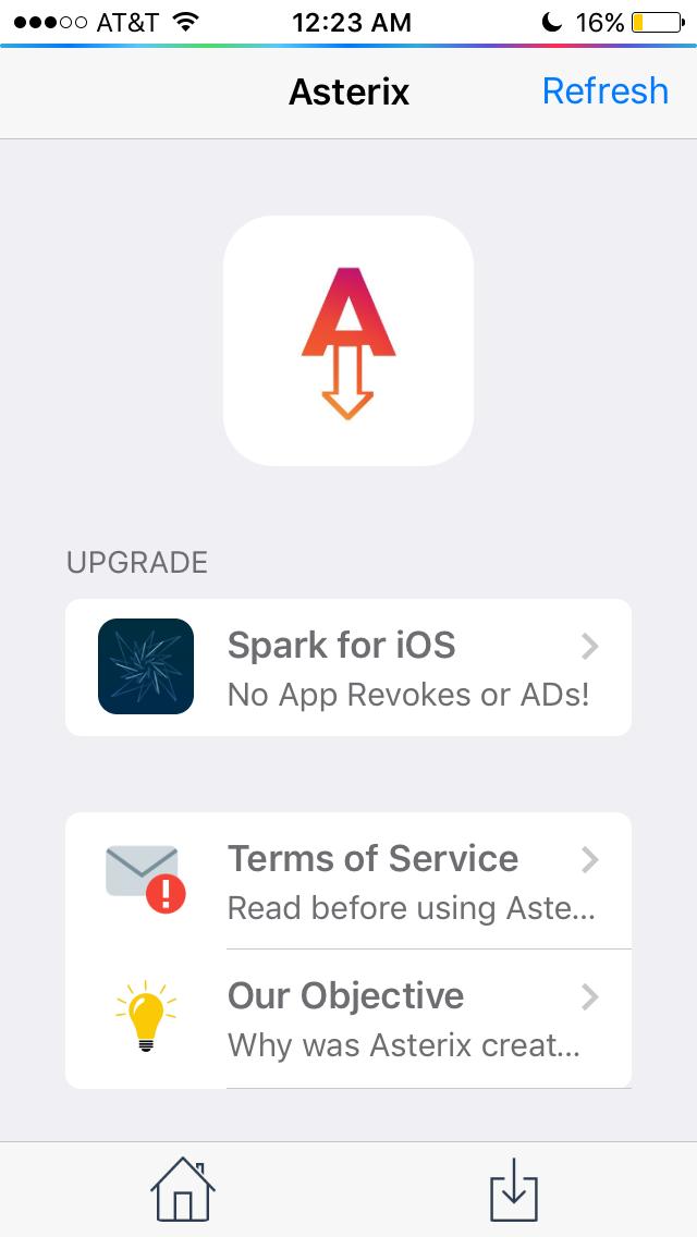 Как скачать установщик Asterix на iOS 10/iOS 11 без джейлбрейка