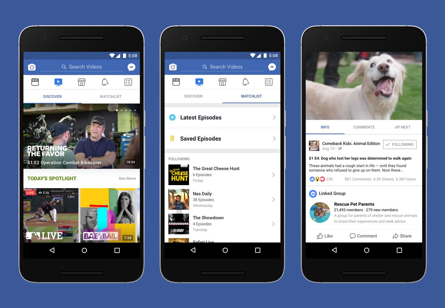 Facebook представила сервис Watch