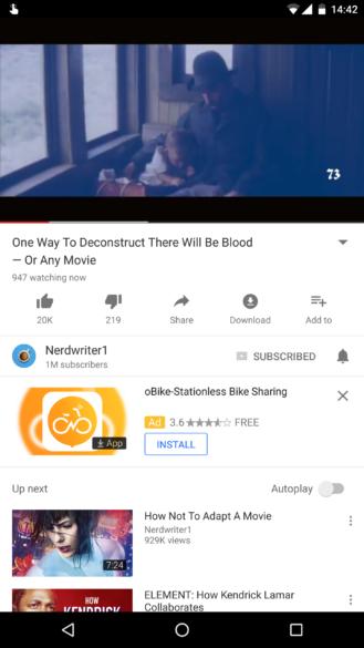 YouTube тестирует счетчик онлайн-зрителей