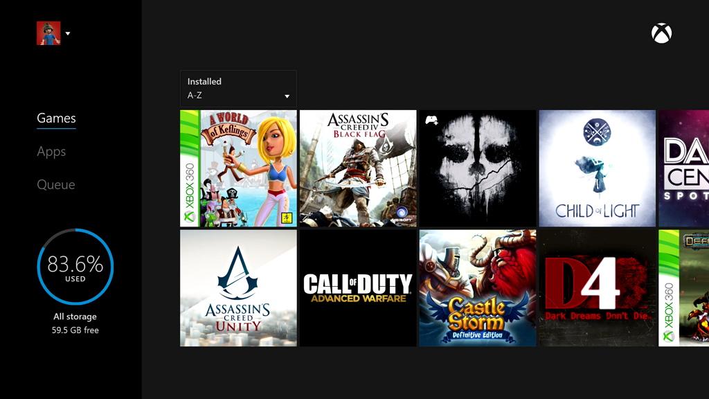 Xbox One сможет копировать за раз все игры на внешний накопитель