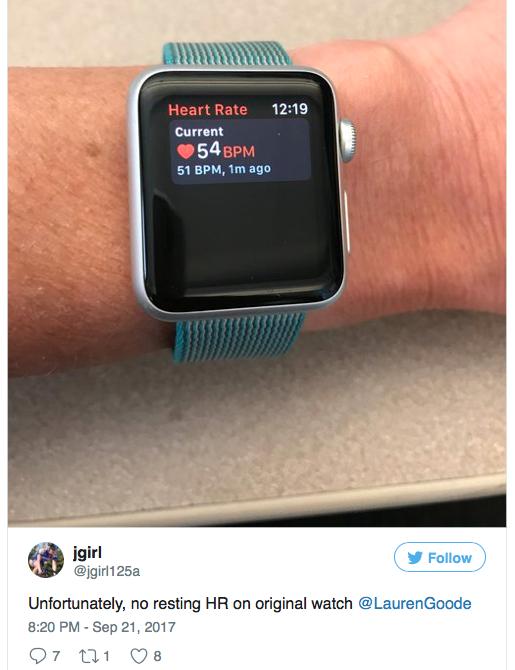 Оригинальные Apple Watch не могут отслеживать сердечный ритм пользователя
