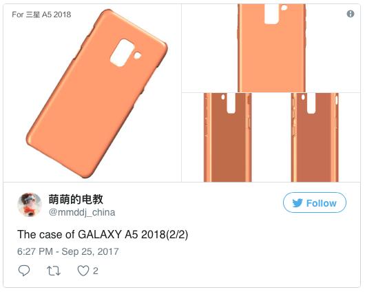 В сеть слили дизайн будущих смартфонов Samsung Galaxy A5 и A7
