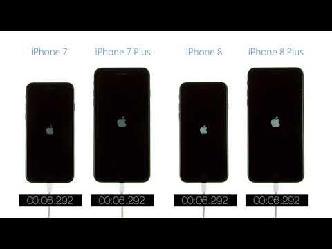 Скорость загрузки устройств: iPhone 8 против iPhone 7 – видео