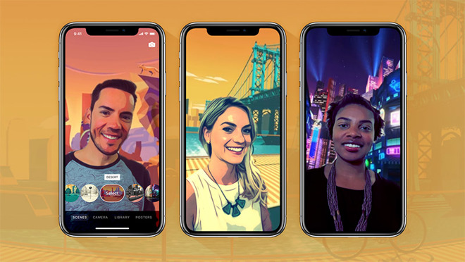 В приложении Clips для iPhone X появятся селфи-сцены