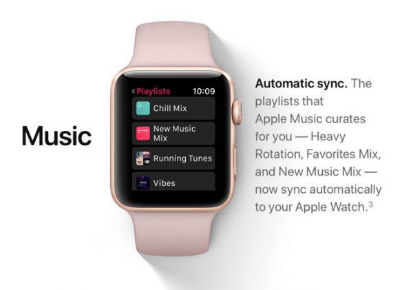 В watchOS 4 нельзя просматривать музыку, которая хранится на iPhone
