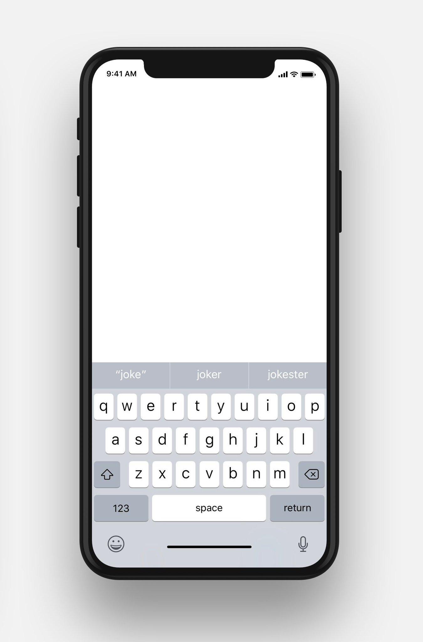 Клавиатура iPhone X
