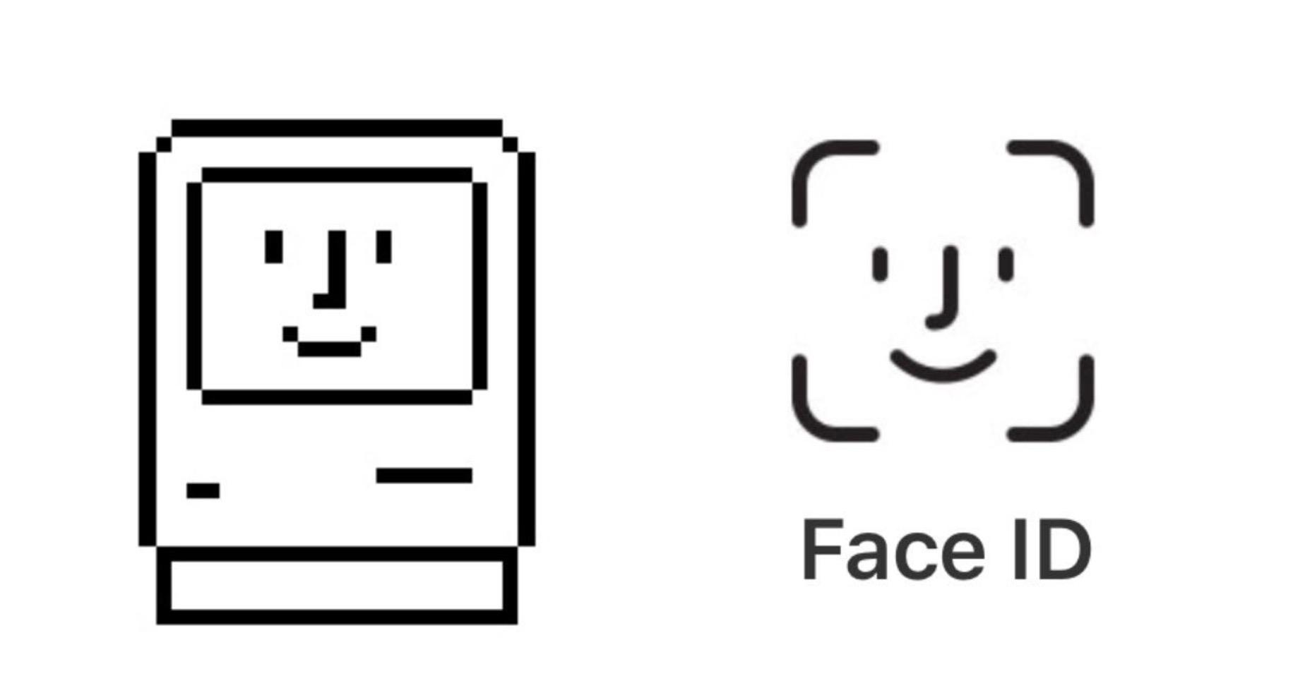 Для Face ID использовали классическую иконку Macintosh