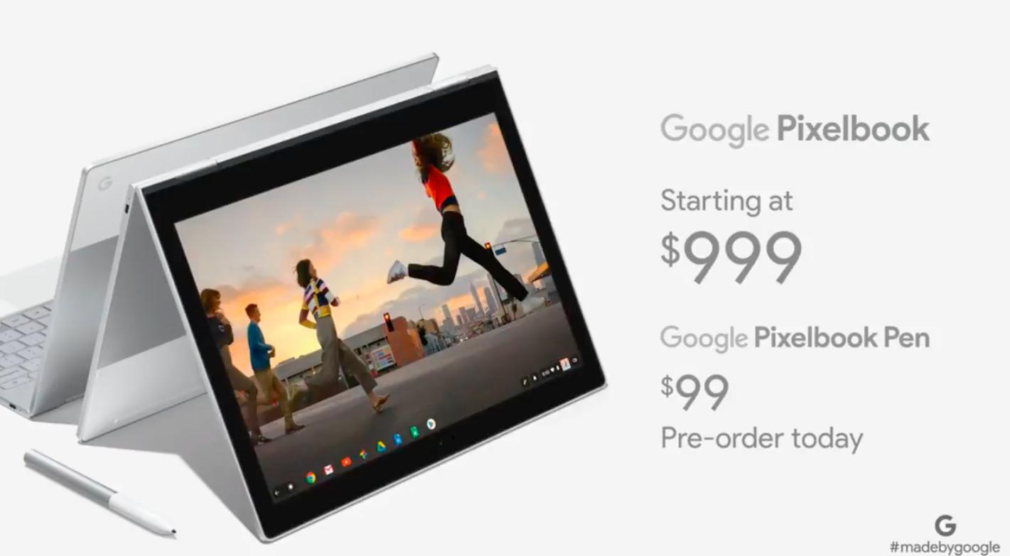 Google представила ноутбук Pixelbook и стилус Pixelbook Pen