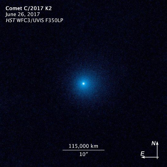 «Хаббл» видит самую далекую активную комету, когда-либо прибывавшую в СС