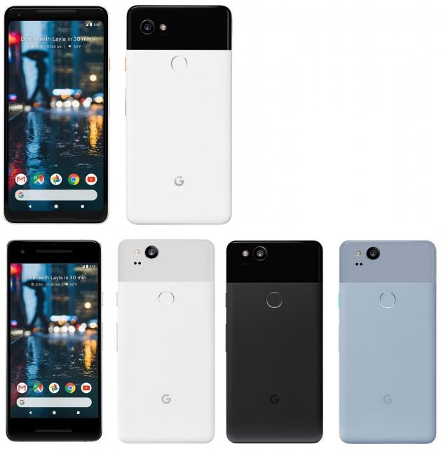 В сеть утекли изображения новых смартфонов Google