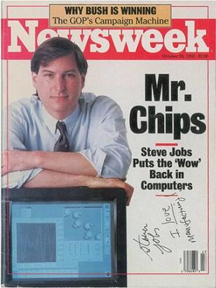 Журнал с автографом Стива Джобса ушел с молотка за 50 тысяч долларов