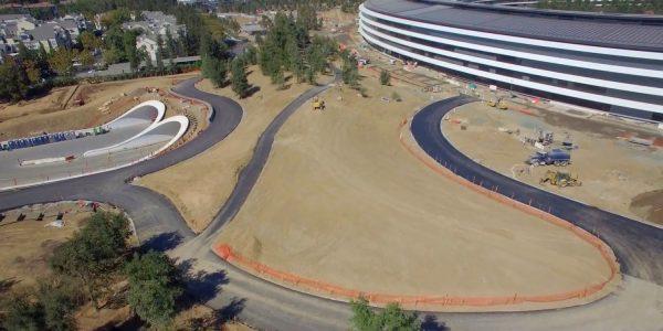 Новое в Apple Park — октябрьское видео с дрона