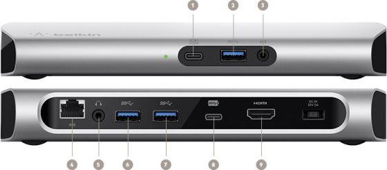 Представлена док-станция Belkin с поддержкой USB-C 3.1