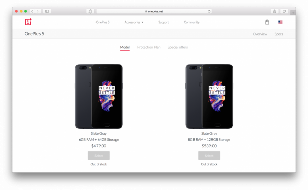 Слухи: OnePlus 5T представят в ноябре