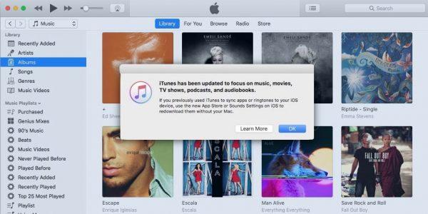 Apple выпустила специальную версию iTunes с App Store и рингтонами
