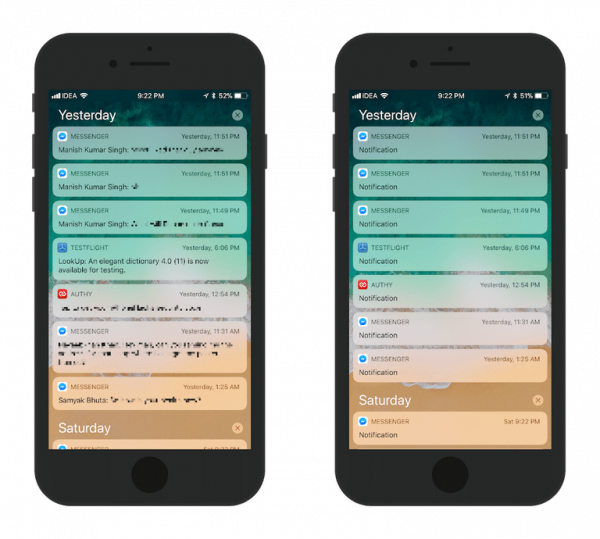 Как отключить предпросмотр уведомлений в iOS 11