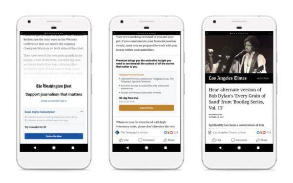 Из-за требований Apple сервис подписок Facebook может появиться только на Android