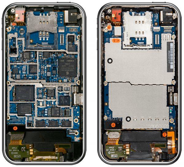 Как изменились внутренности iPhone за 10 лет