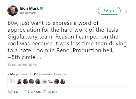 Почему Илон Маск разбил лагерь на крыше Tesla Gigafactory