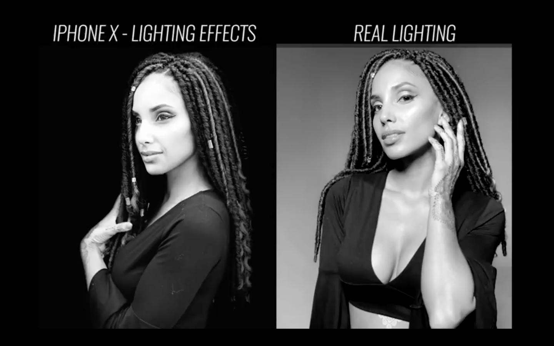iPhone X против профессионального студийного освещения – видео