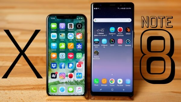 Бенчмарк-битва: iPhone X против Samsung Galaxy Note 8