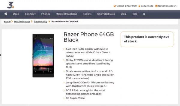Стали известны новые характеристики игрового смартфона Razer