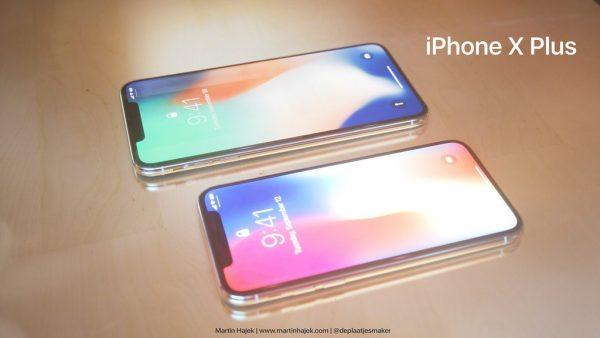 Рендеры iPhone X Plus от Мартина Хаека