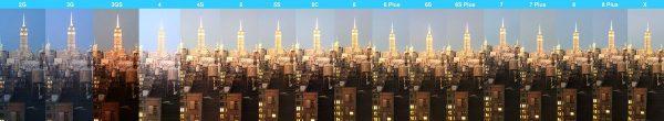 Сравнение камеры в iPhone X и в предыдущих моделях iPhone