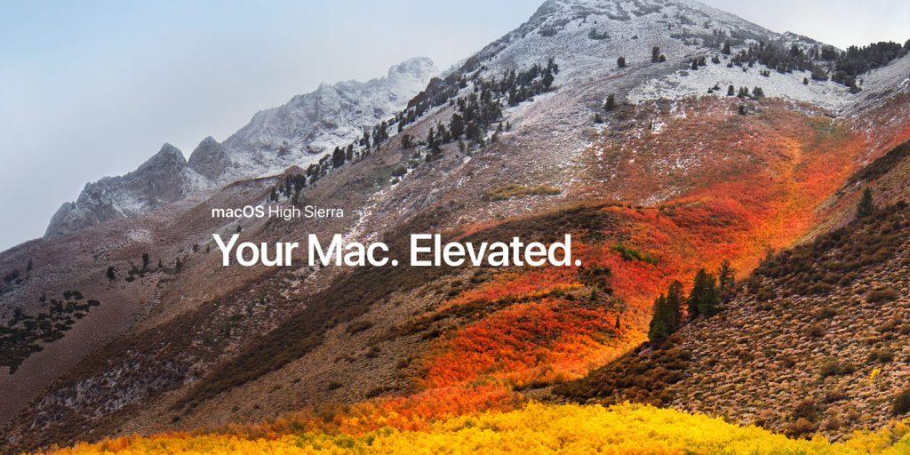 Вышла публичная macOS 10.13.2 High Sierra beta 5