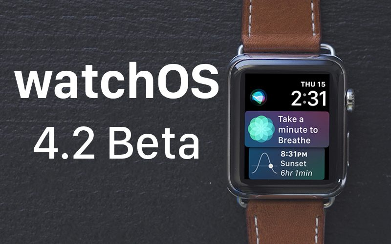 Apple выпустила watchOS 4.2 beta 2 для разработчиков