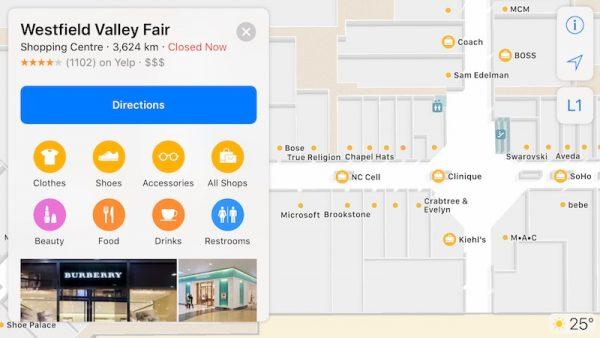 В Apple Maps добавили карты торговых центров и аэропортов