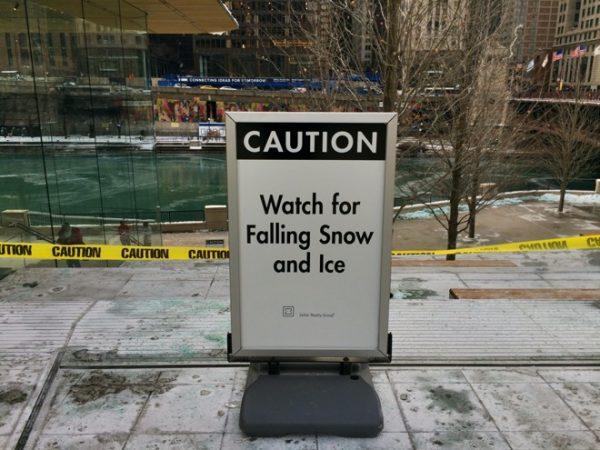 Apple Store в Чикаго оказался не готов к снегу