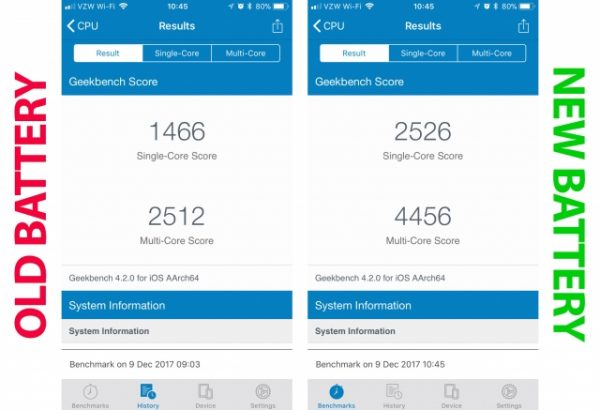 Apple замедляет iPhone со старыми аккумуляторами