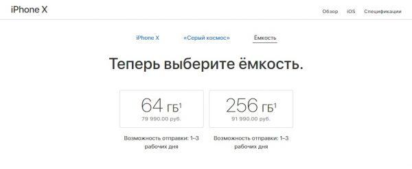 Срок доставки iPhone X сократился до нескольких дней