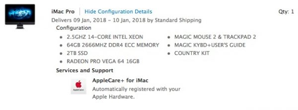 iMac Pro с 14 и 18 ядрами прибудут к владельцам раньше, чем ожидалось