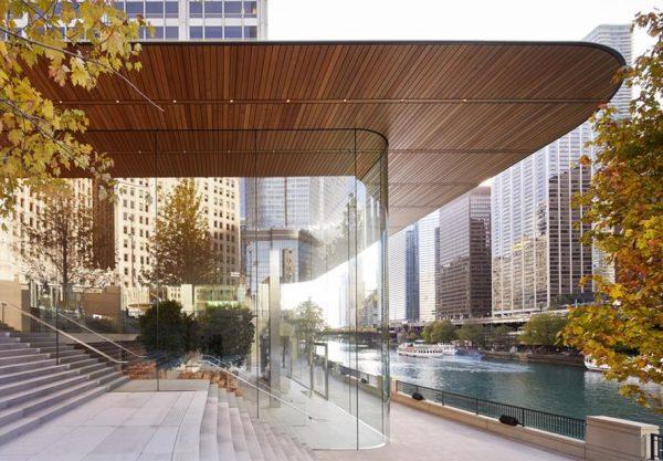 Для борьбы с сосульками на крыше Apple Store в Чикаго достаточно включить обогрев