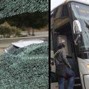 Неизвестные напали на автобус с работниками Apple