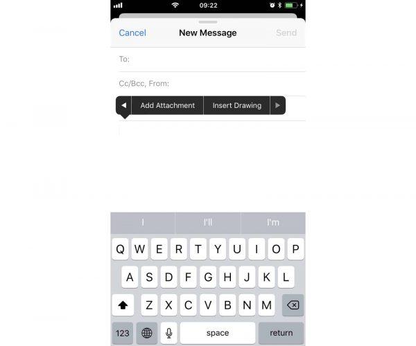 Как добавлять рисунки в электронные письма в iOS 11