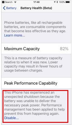 Как отказаться от замедления iPhone из-за изношенной батареи в iOS 11.3
