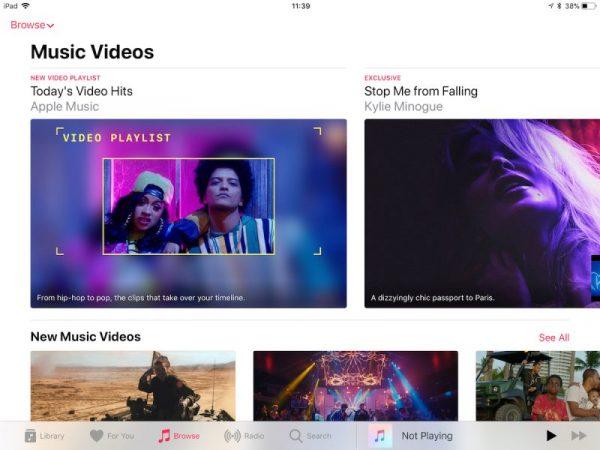 В Apple Music появился новый раздел с видеоклипами